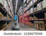 smart retail concept  robot... | Shutterstock . vector #1228675048