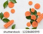 carrot slice herbal healthy...   Shutterstock . vector #1228680595