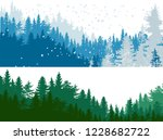 illustration with green and... | Shutterstock .eps vector #1228682722