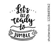 lets get ready to jumble hand...   Shutterstock .eps vector #1228685062