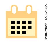 vector event calendar... | Shutterstock .eps vector #1228690822