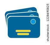 vector money cards icon. bank... | Shutterstock .eps vector #1228690825