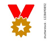 gold medal with ribbon for... | Shutterstock .eps vector #1228690852
