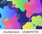 vector abstract pop art pattern ... | Shutterstock .eps vector #1228693735