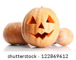 Halloween Pumpkins  Isolated O...