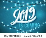 happy new year 2019 is coming... | Shutterstock .eps vector #1228701055
