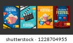 cinema placard set with... | Shutterstock .eps vector #1228704955