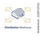 distribution concept  warehouse ... | Shutterstock .eps vector #1228715722