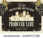 vector label for wine with... | Shutterstock .eps vector #1228717138