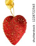 red heart shape valentine in... | Shutterstock . vector #1228722565