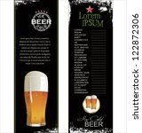 beer list background | Shutterstock .eps vector #122872306