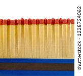 matches in open match box on... | Shutterstock . vector #1228724062
