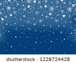 realistic falling snow isolated ... | Shutterstock .eps vector #1228724428