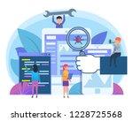 application stress testing  bug ... | Shutterstock .eps vector #1228725568