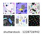 collection of seamless patterns ... | Shutterstock .eps vector #1228726942
