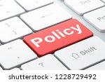 insurance concept  computer... | Shutterstock . vector #1228729492