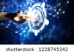 new media technologies in use.... | Shutterstock . vector #1228745242
