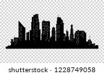 city silhouette with windows.... | Shutterstock . vector #1228749058
