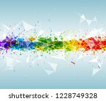 abstract triangular and... | Shutterstock . vector #1228749328