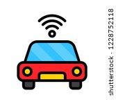 wifi transmit car filled... | Shutterstock .eps vector #1228752118