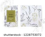 template card with medicinal... | Shutterstock .eps vector #1228753072