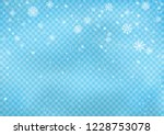 snowfall on blue transparent... | Shutterstock .eps vector #1228753078