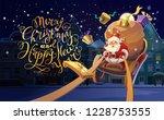 christmas card. christmas... | Shutterstock .eps vector #1228753555