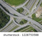 aerial drone photo of urban... | Shutterstock . vector #1228753588