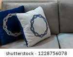 Modern Blue And White Fabric...