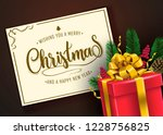 christmas vector illustration... | Shutterstock .eps vector #1228756825