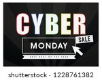 cyber monday sale best deal of... | Shutterstock .eps vector #1228761382