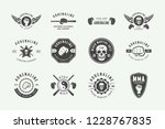 set of vintage mixed martial... | Shutterstock .eps vector #1228767835