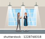businesswomen couple in...   Shutterstock .eps vector #1228768318