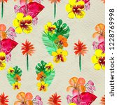 seamless pattern with tropical... | Shutterstock . vector #1228769998