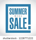 summer mega sale exclamation... | Shutterstock .eps vector #1228771222