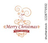 merry christmas greeting card   ... | Shutterstock .eps vector #1228773532