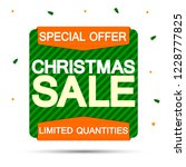 christmas sale  banner design... | Shutterstock .eps vector #1228777825