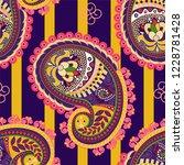vector seamless pattern. indian ...   Shutterstock .eps vector #1228781428