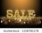 luxury golden sale sign. 3d... | Shutterstock . vector #1228782178