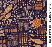 vector seamless floral pattern. ...   Shutterstock .eps vector #1228784398