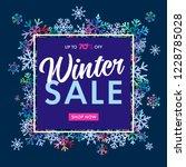 elegant winter sale banner on... | Shutterstock .eps vector #1228785028
