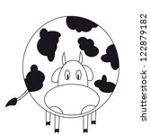 cute cow. coloring book. | Shutterstock .eps vector #122879182