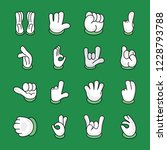 hand gestures icons pack is a...   Shutterstock .eps vector #1228793788