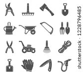 black icons   garden tools | Shutterstock .eps vector #1228796485