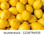 Ripe Yellow Lemons Close Up...