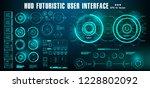 dashboard display virtual... | Shutterstock .eps vector #1228802092