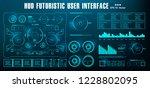 hud futuristic green user... | Shutterstock .eps vector #1228802095
