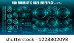 dashboard display virtual... | Shutterstock .eps vector #1228802098