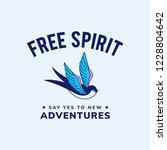 motivation freedom quote design ... | Shutterstock .eps vector #1228804642
