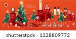 santa's workshop   christmas... | Shutterstock .eps vector #1228809772